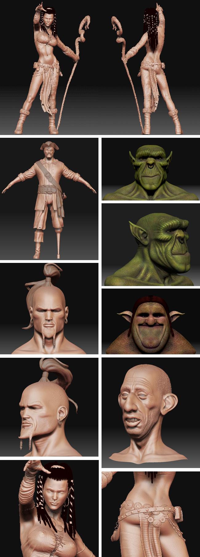 Curso de modelado en 3D con ZBrush en academia C10. Cursos de Verano.