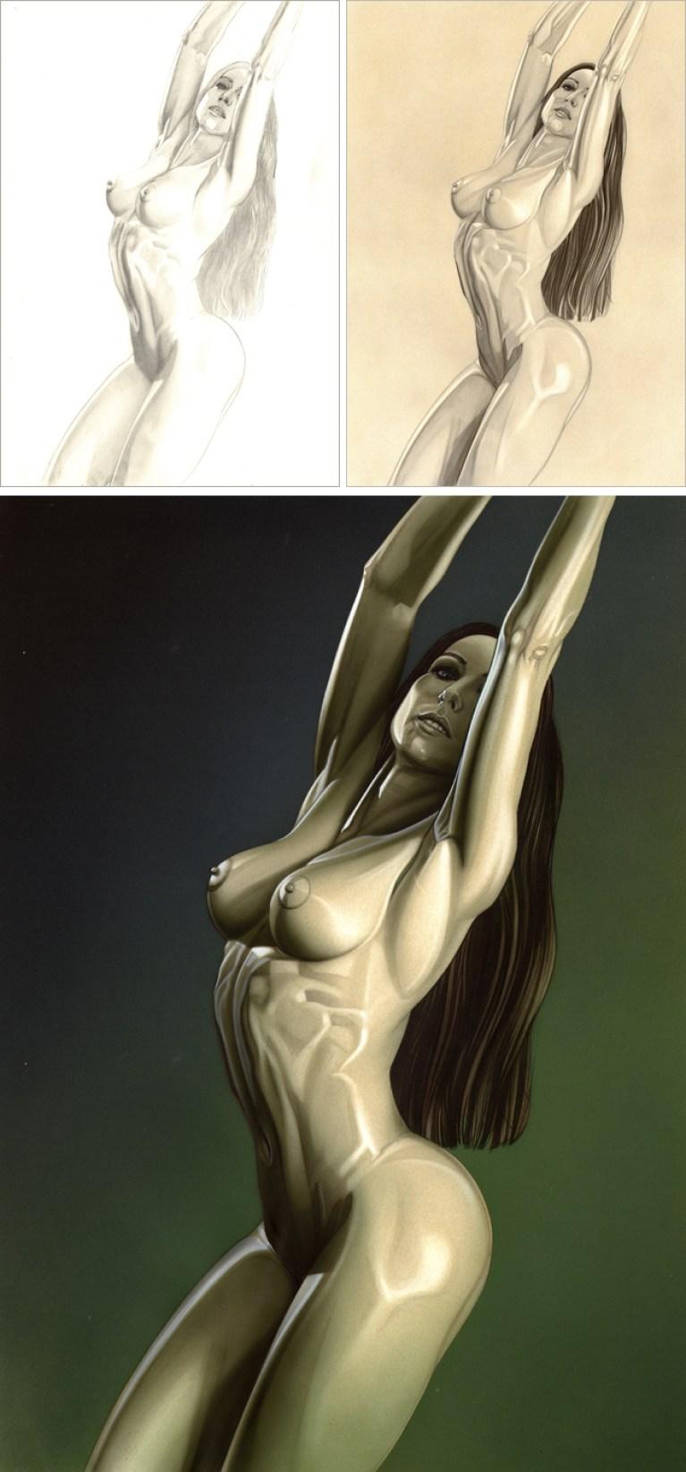 Ilustracion de aerografo en aerografia de Carlos Diez.