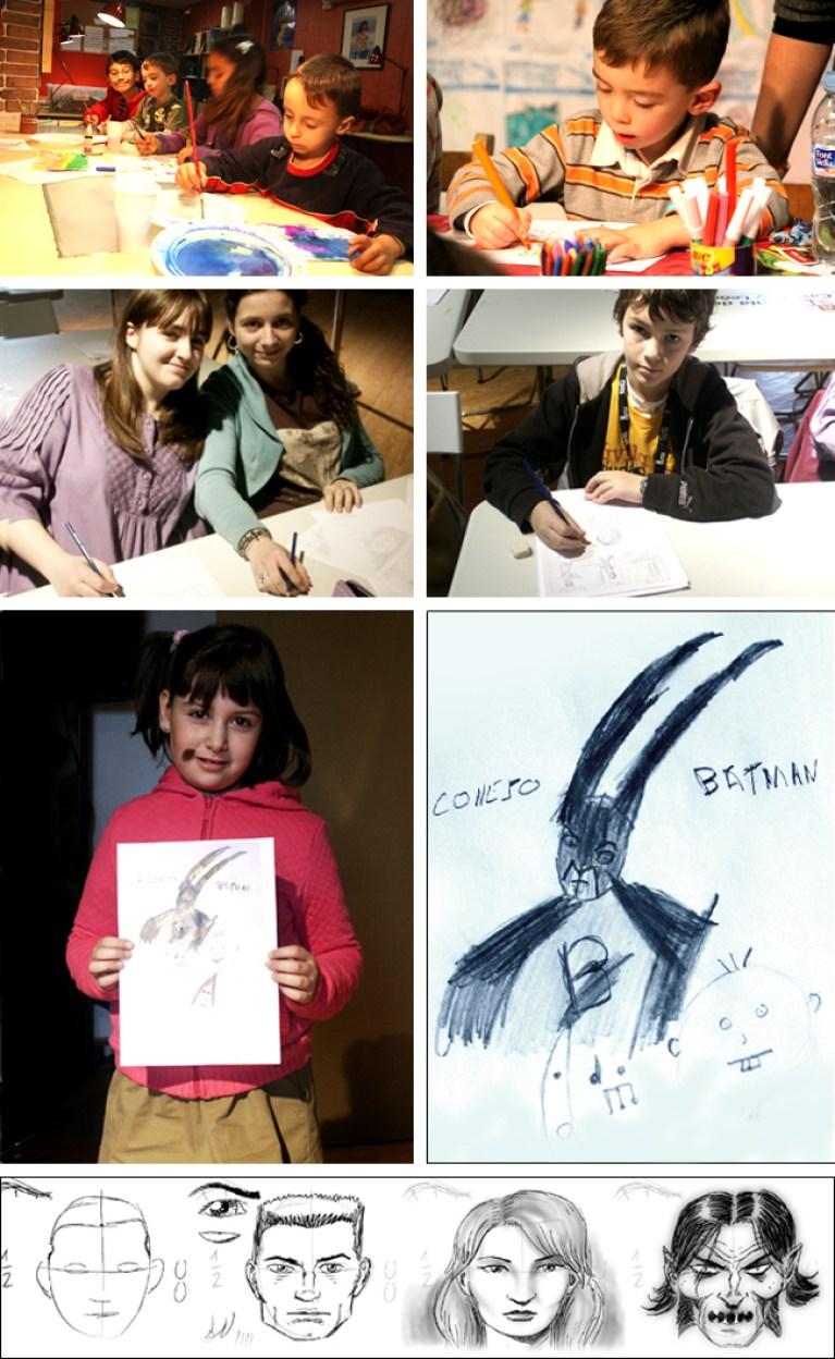 Niños 1 Cursos de dibujo mas comic para niños en Academia C10.