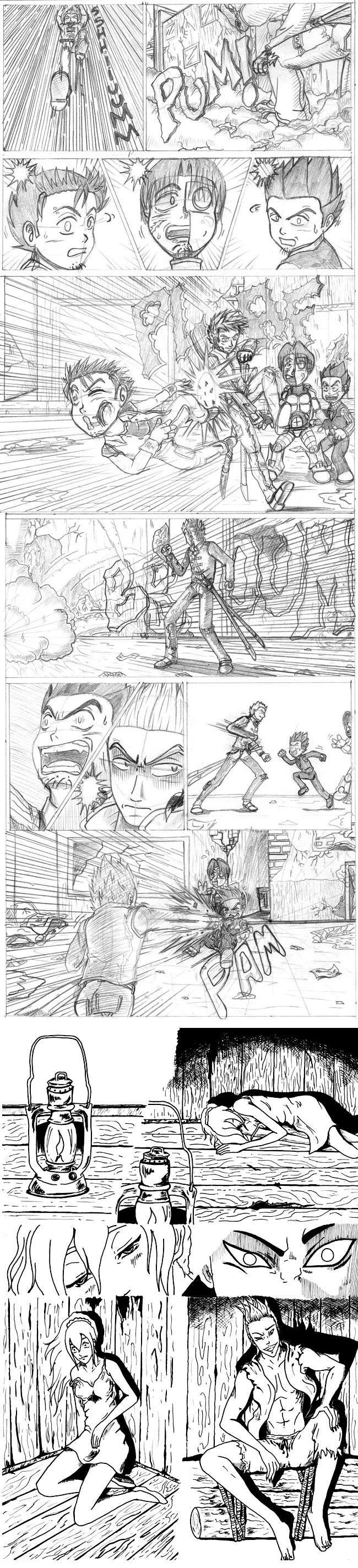 Trabajos de alumnos del Curso de Manga en Academiac10 de Carlos Diez