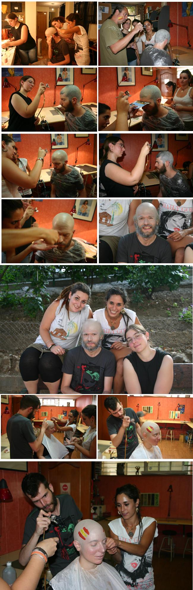 Envejecimiento, fx de maquillaje en Academiac10 de Madrid. Por Carlos Diez.