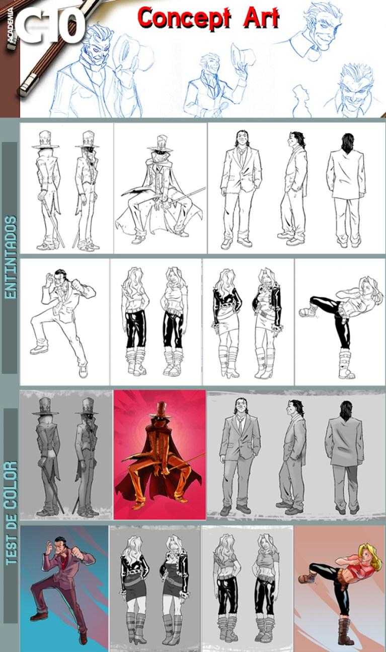Diseño de personajes para proyecto de Cómic Book. Segunda parte