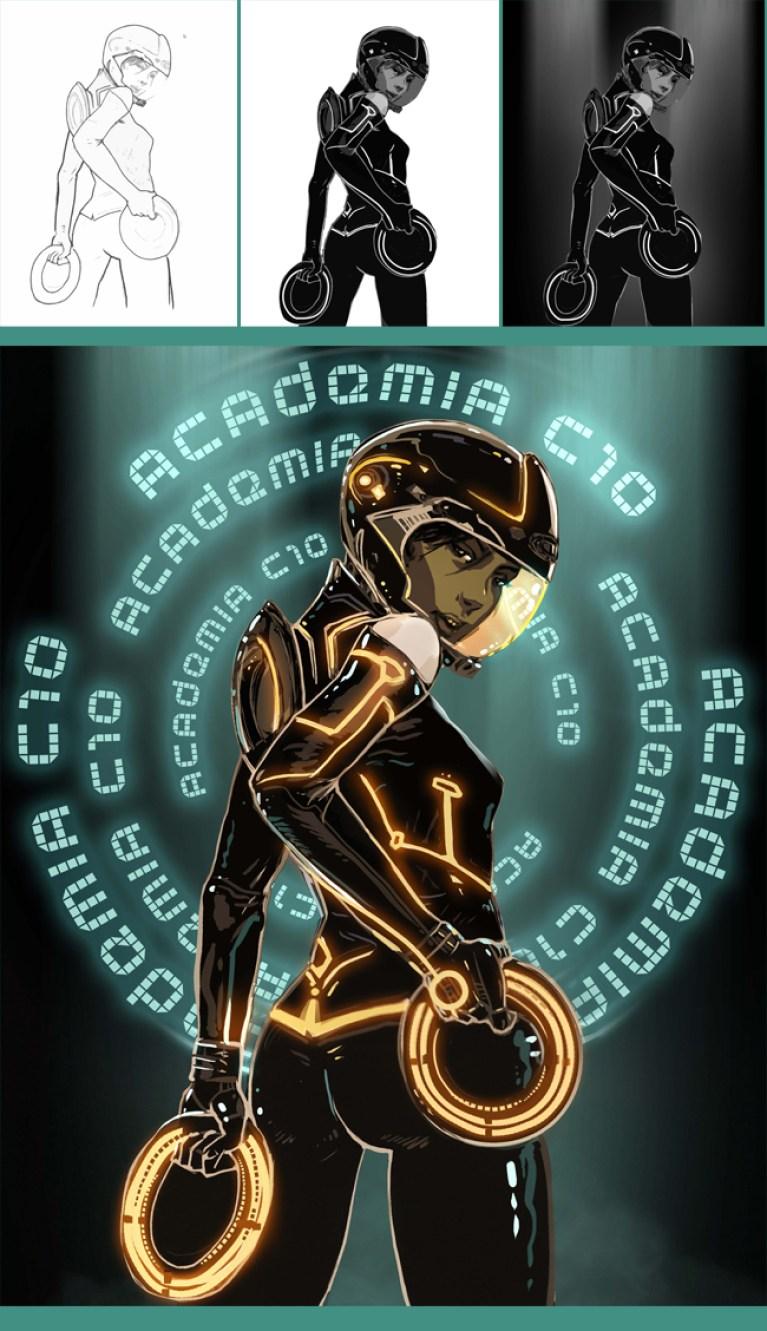 """""""Tron"""" en Academia C10"""