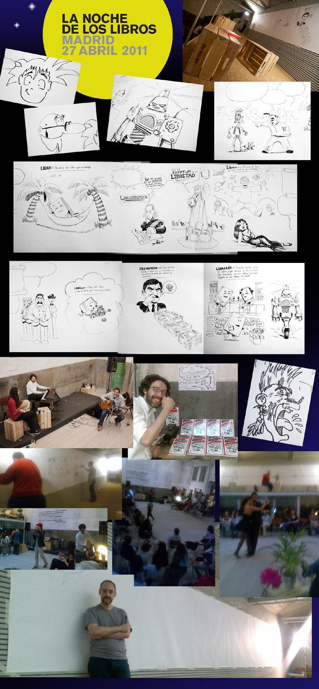 La noche de los libros (¡y los comics!) o Mural de Cómic