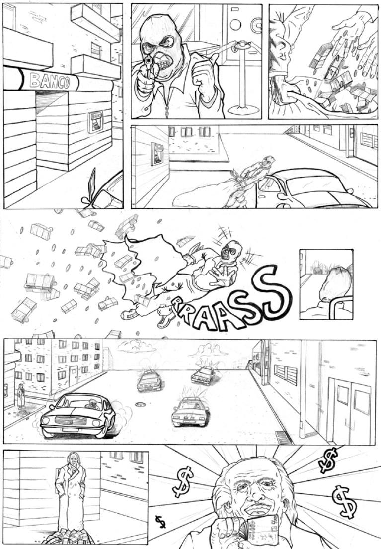 Curso de cómic en Academia C10. Trabajo de Diego.