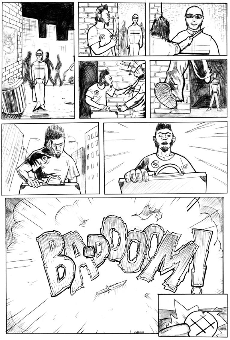 Curso de cómic: trabajos de Pedro.