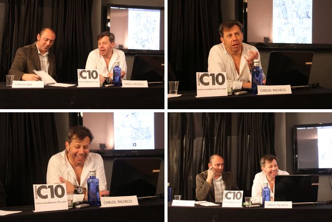 Carlos Pacheco y Carlos Diez en los cursos de cómic de Academia C10