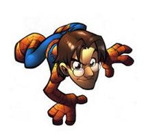 Julian Clemente, editor de marvel comic españa convertido en spiderman.