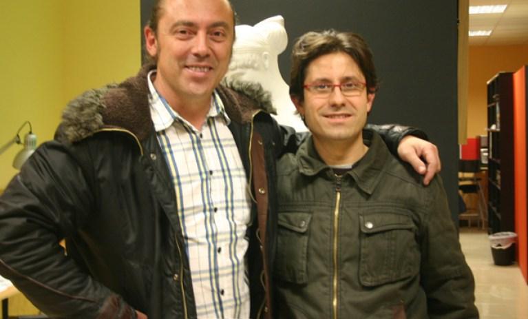Julian Clemente, editor de Marvel Cómics, con Carlos Diez en Academia C10.