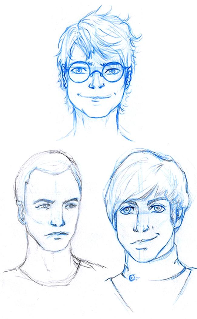 retratos-manga-trabajos-alumnos-curso-academiac10-madrid