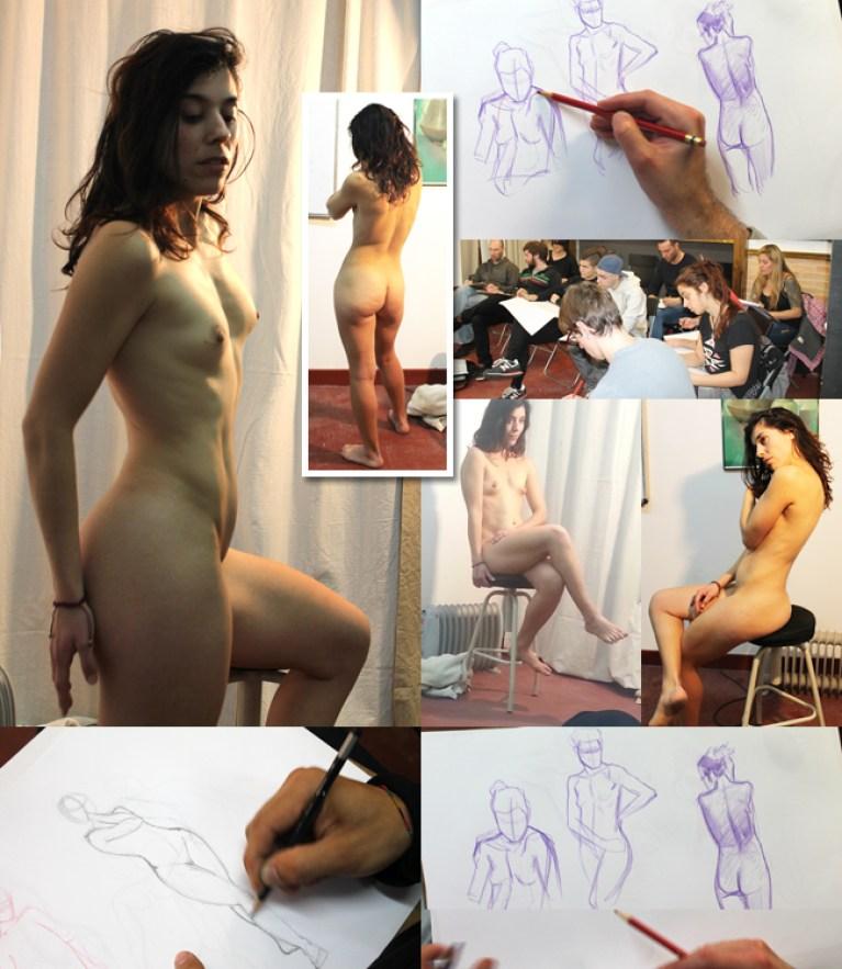 Dibujo-del-natural-comic-ilustracion-modelo-bellas-artes-alumnos-cursos-aerografia-ilustracion-comic-academia-c10-madrid
