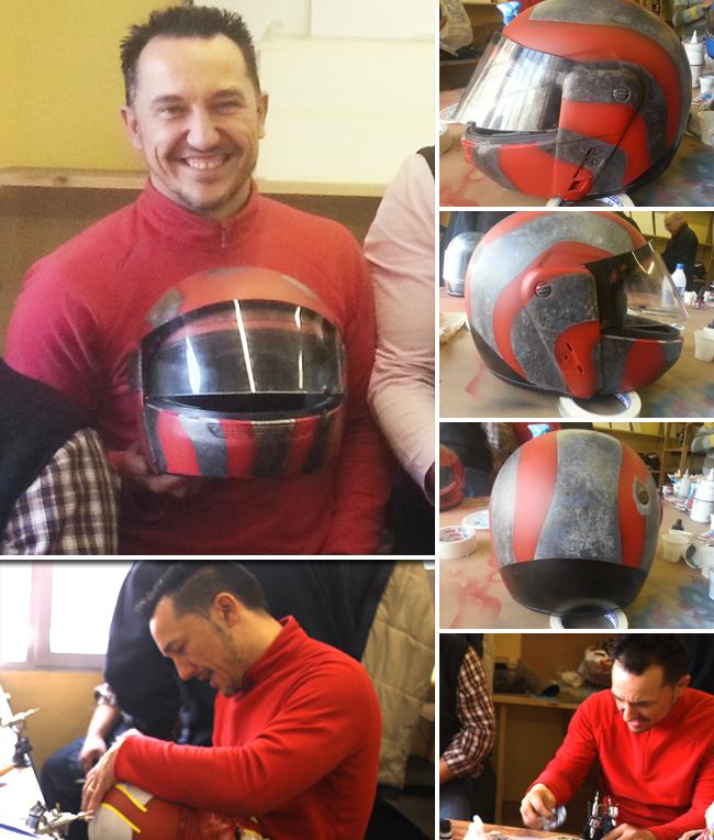 Trabajos-alumnos-cursos-aerografia-decoracion-cascos-moto-carrocerias-aerografo-custom