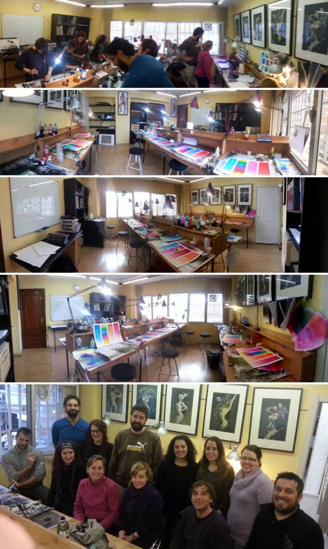 Alumnos-trabajos-aerografo-cursos-intensivos-aerografia-verano-academia-c10-de-madrid-clases-ilustracion-comic-dibujo