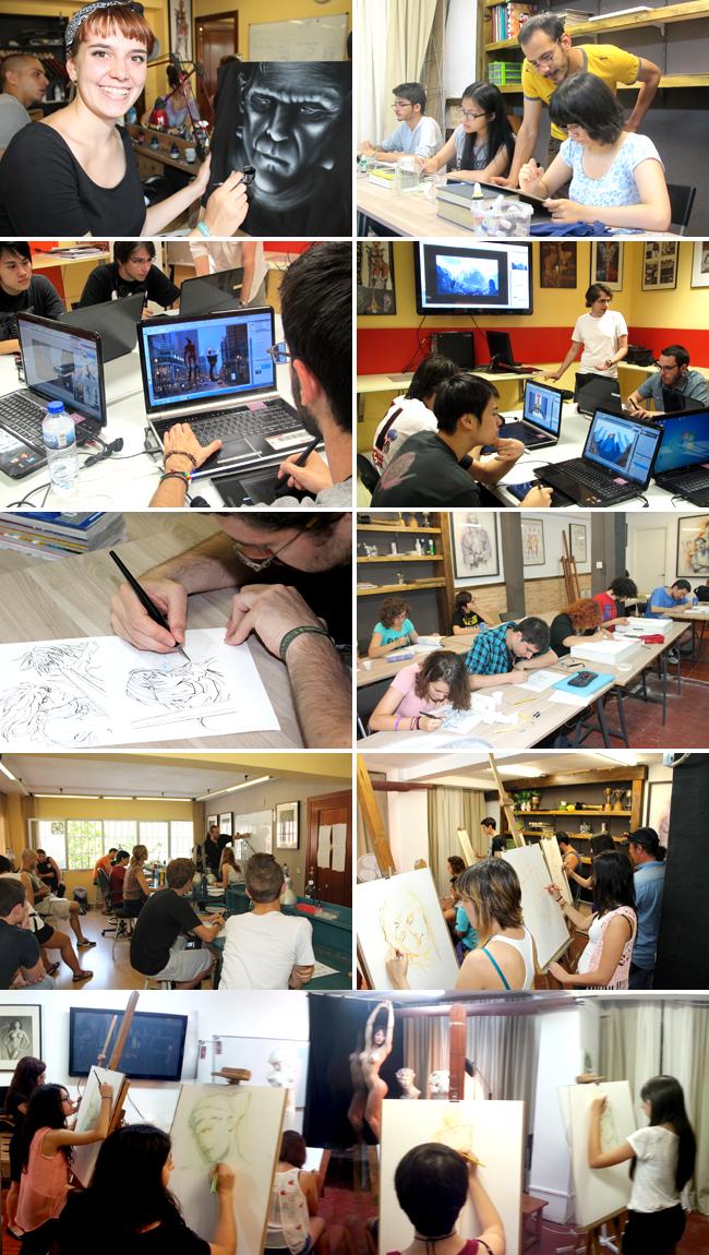 Alumnos-comic-ilustracion-dibujo-pintura-digital-z-brush-profesional-aerografia-academiac10-madrid