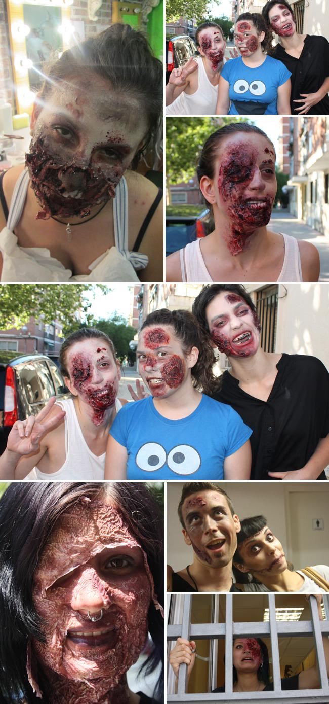 Zombies,Fx,Efectos,especiales,caracterizacion,quemaduras,sangre,terror,maquillaje,fantasia,horror,miedo,cine,teatro,television,academia c10,trabajos,alumnos,carlos diez