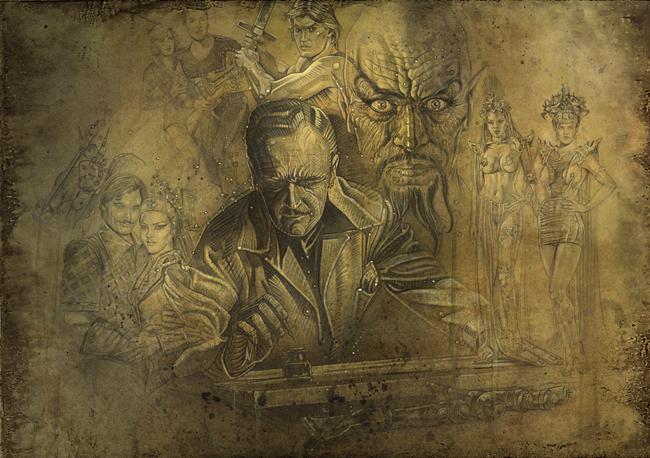 Flash Gordon-Dale Arden-Ming el cruel-Princesa Aura-Principe Barin-Alex Raymond-Ilustracion-Carlos Diez
