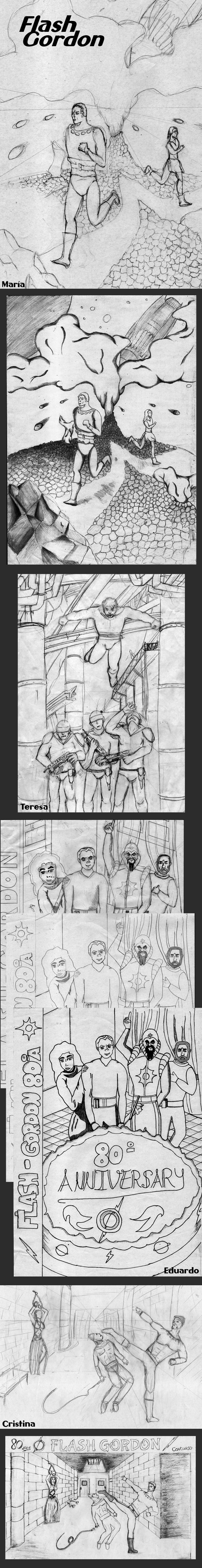 Flash-Gordon-lapiz-tinta-curso-dibujo-academiac10-sabados-concurso-madrid