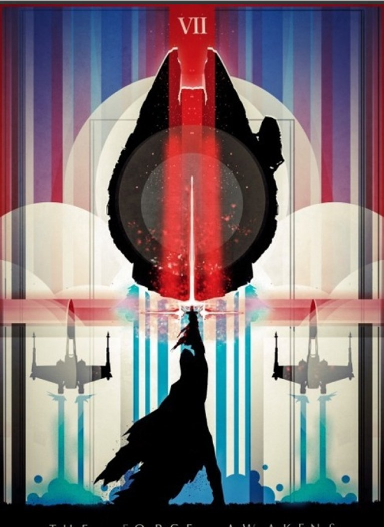 Ilustraciones-posters-dibujo-comic-arte digital-comic-star wars-episodio-VII