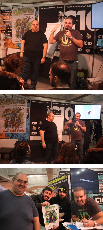 presentacion-los-vengativos-stand-academiac10-expocomic-vengadores-comic-alumnos-madrid