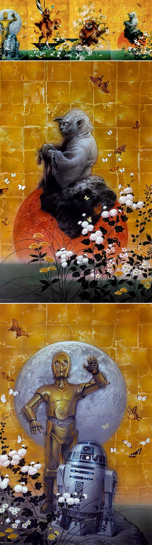 Ilustraciones de Tsuneo Sanda para Cursos MasterClass Ilustración en Academia c10 en Expocomic Madrid.