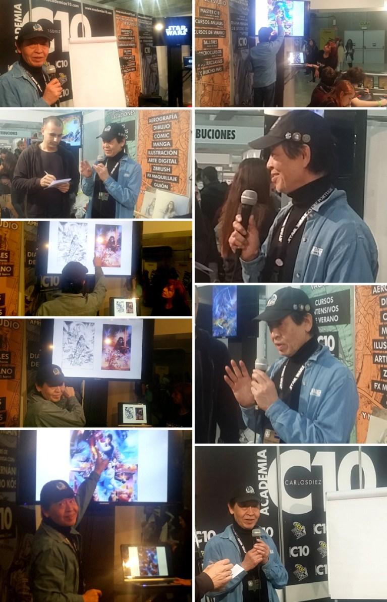 Tsuneo Sanda Ilustrador Star Wars imparte masterclass cursos de ilustracion Comic en Academia C10