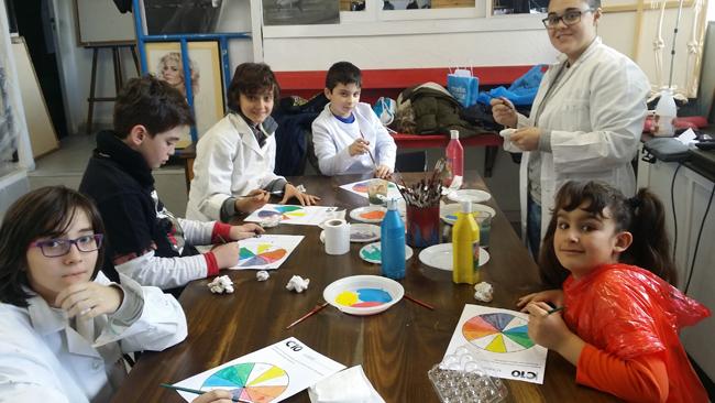Cursos de dibujo y pintura infantil. Clases para niños.Academia C10 de Madrid.