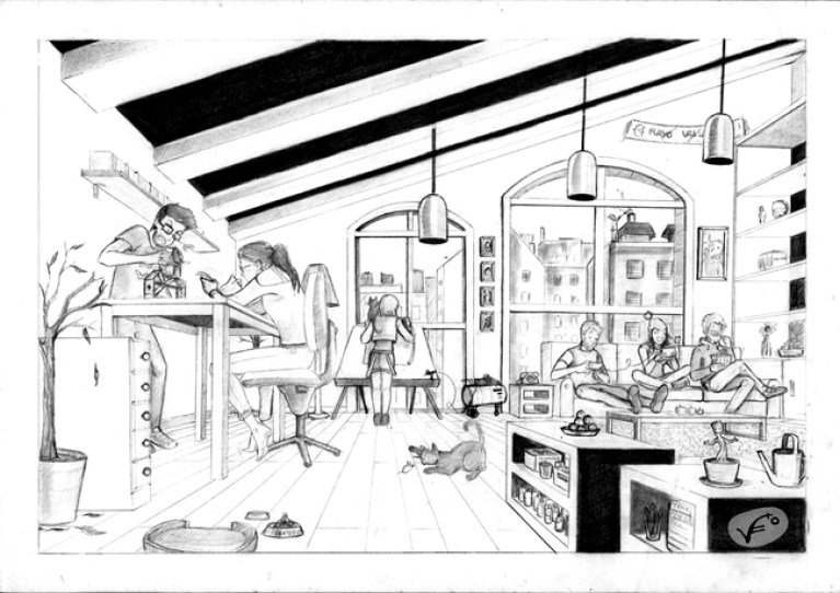 practica-estudio-perspectiva-curso-dibujo-profesional-verano-intensivos