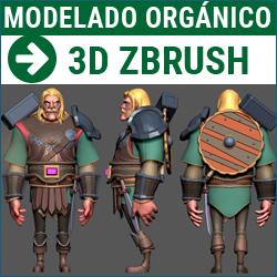 Taller de Modelado orgánico con Pixologic ZBrush