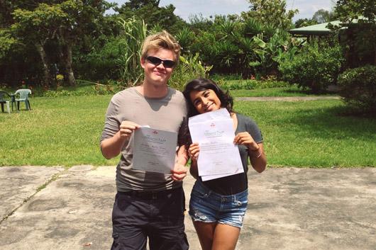 Natasha and Jorda, Spanish students graduating