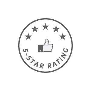 5 star rated by our students on Facebook