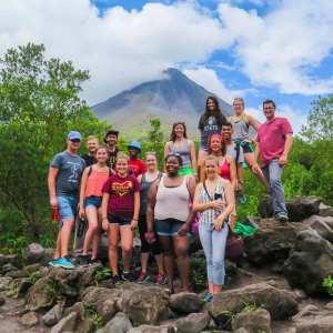 Group Spanish program in Costa Rica traveling around Arenal Volcano
