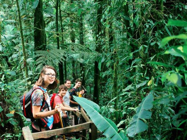 Cloudforest hike, one of our favorite activites in Coronado