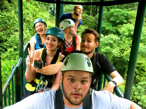 Tranopy tour at Rainforest Adventures in Jacó
