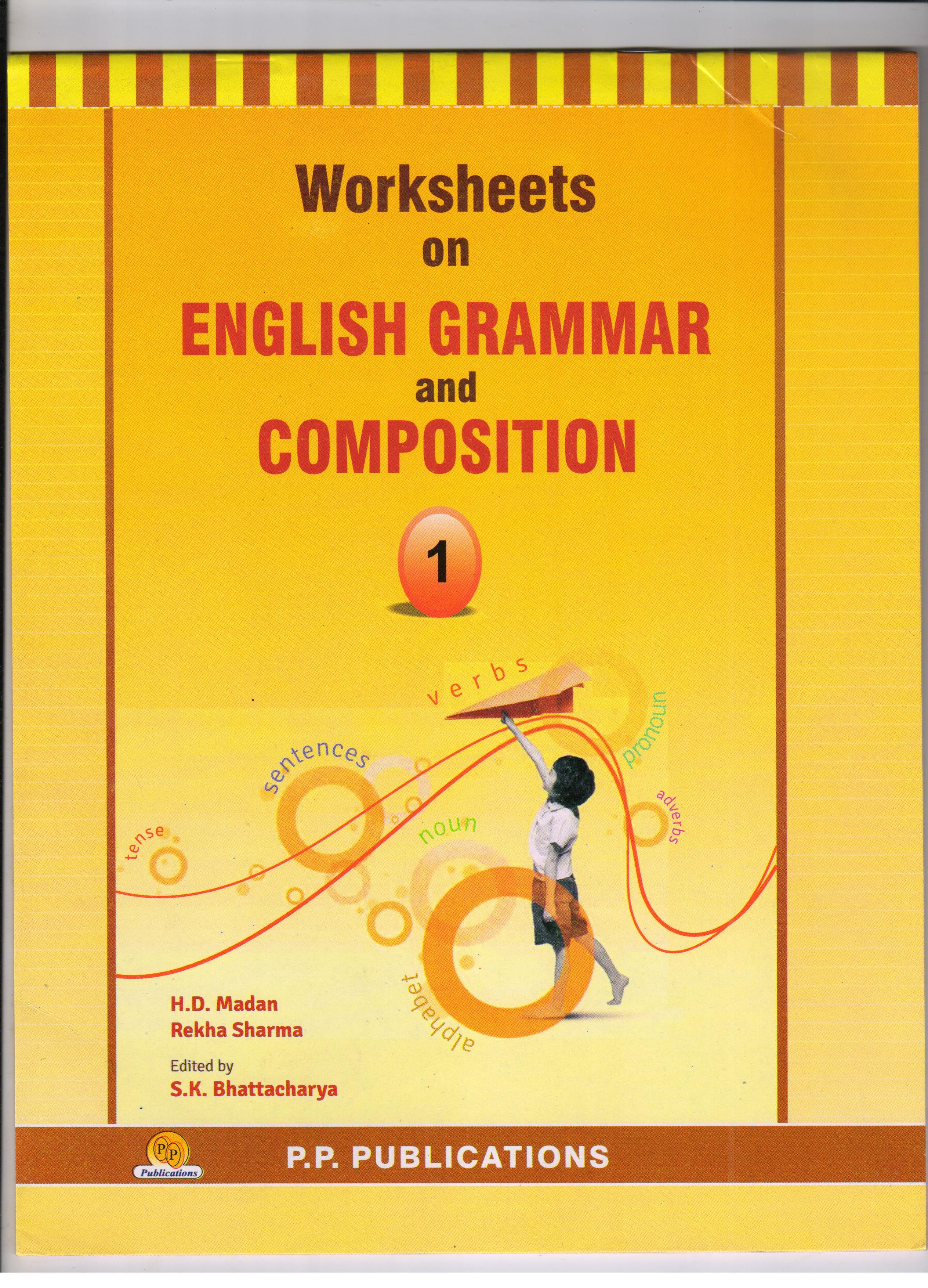 Buy Pp Worksheets On English Grammar For Class I Mrp Rs