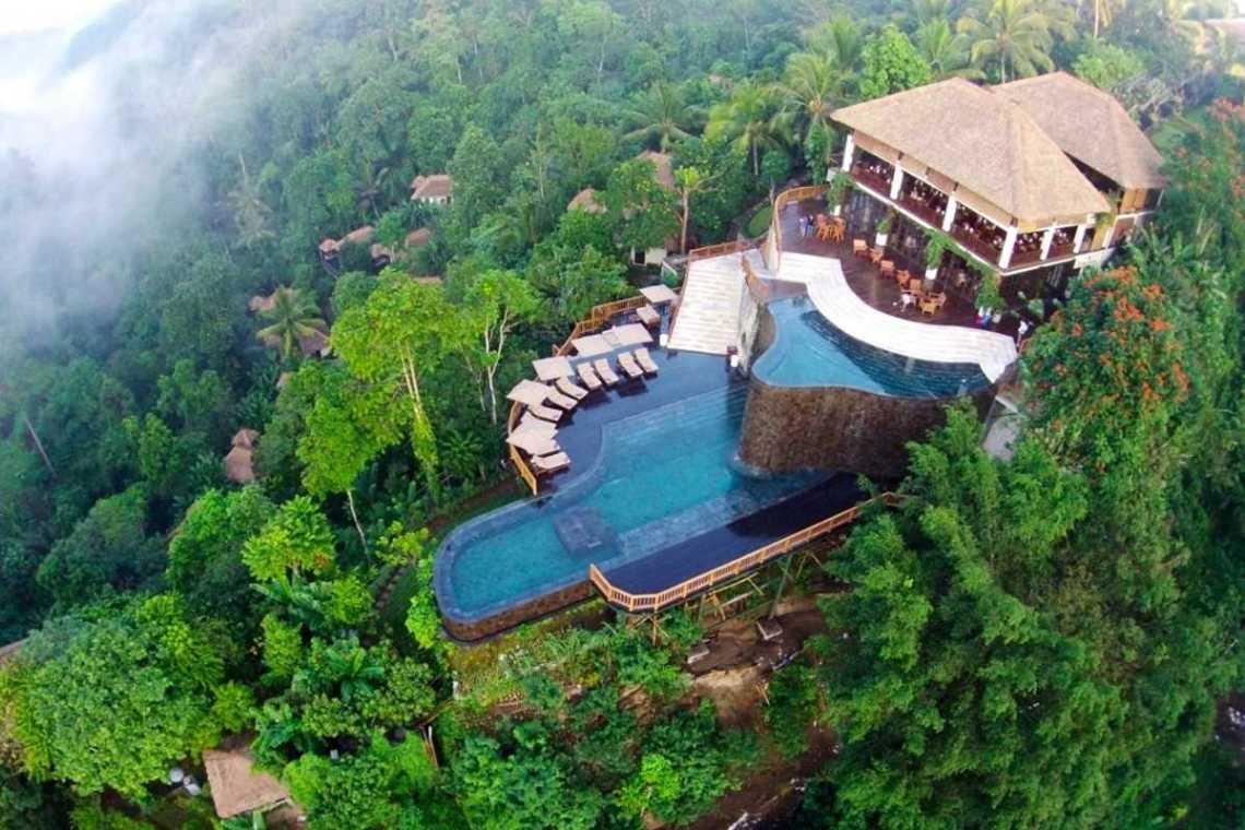 Kolam Renang BaliHanging Garden Ubud