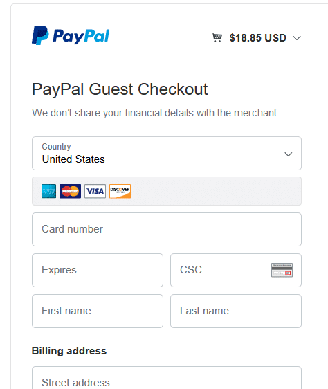 How to pay using your card without linking it to PayPal