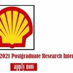 Shell Nigeria Postgraduate Research Internship for University Students 2021