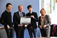 Remise du Prix de la Mayenne par Monsieur Olivier RICHEFOU, Président du Conseil Départemental de la Mayenne