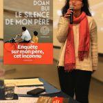 """Doan BUI présentant son livre """"LE SILENCE DE MON PERE"""""""