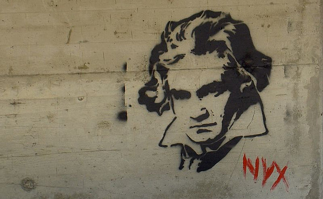 beethoven graffiti