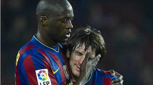 Yaya Toure formé à l'Academie de soccer jmg de la Cote d'Iivoire avec le FC Barca et son coéquipier à l'époque Lionel Messi