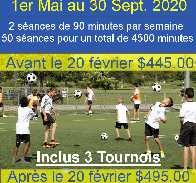 iNSCRIPTION ACADEMIE DE SOCCER JMG 2020