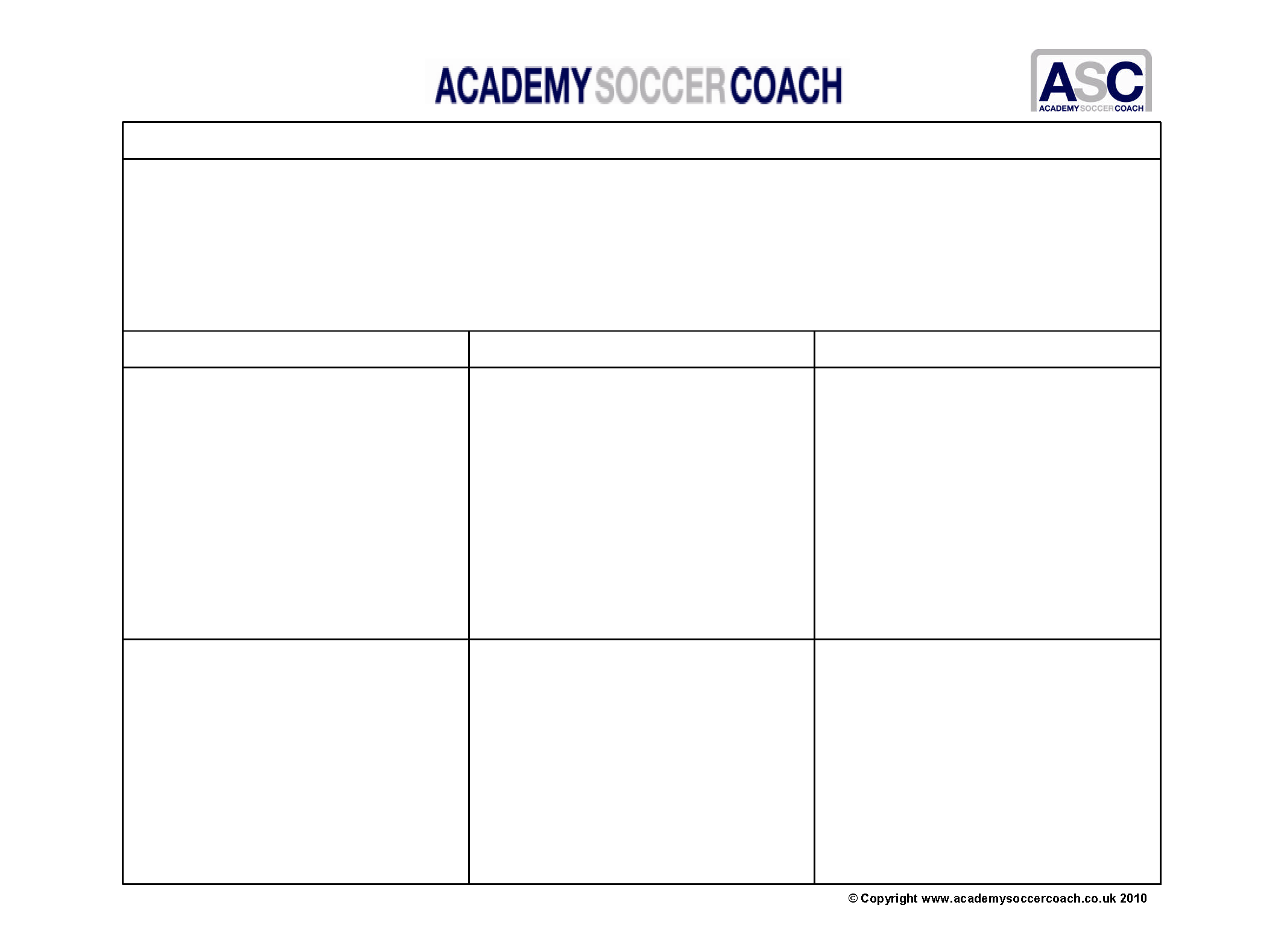 Football Coaching Worksheet