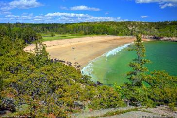 Sand Beach, Acadia NP, where I love to fly my kite in the summer [© 2001 - 2015 Greg A. Hartford] breeze