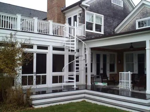 Outdoor Spiral Stairs Exterior Staircases In Ct Nyc Acadia | Outdoor Spiral Staircase For Deck | Farmhouse | Basement | Multi Level | 2Nd Floor | Steel