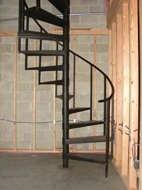 Renovating Your Attic And Need To Conserve Space Use A Spiral   Spiral Staircase To Attic   Diy   Basement   Remodeling   Creative   Small