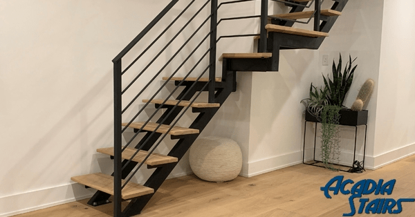 Floating Stairs Single Stringer Staircases In Nyc Ct Acadia | Ready Made Wooden Steps | Stair Treads | Staircase | Deck Stairs | Composite | Stair Stringer