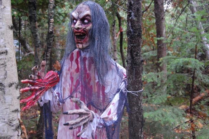 Chaque année avant l'Halloween, la forêt situé derrière l'écurie Mountain Brook Stables de Charlo prend des airs pour le moins terrifiants. - Acadie Nouvelle: Jean-François Boisvert
