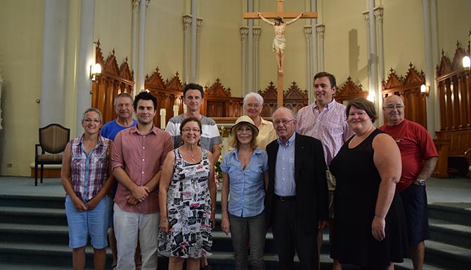 Bernard Landry était venu en Acadie en 2015 pour appuyer le comité de sauvegarde de l'église de Bas-Caraquet. - Acadie Nouvelle: Vincent Pichard