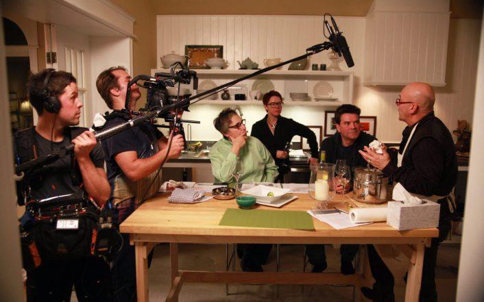 Tournage du documentaire de Renée Blanchar Les Héritiers du club. - Gracieuseté: Julie D'Amour-Léger